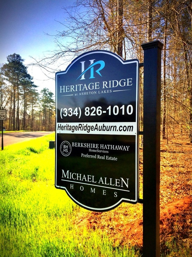 New custom homes are available in Heritage Ridge Auburn AL
