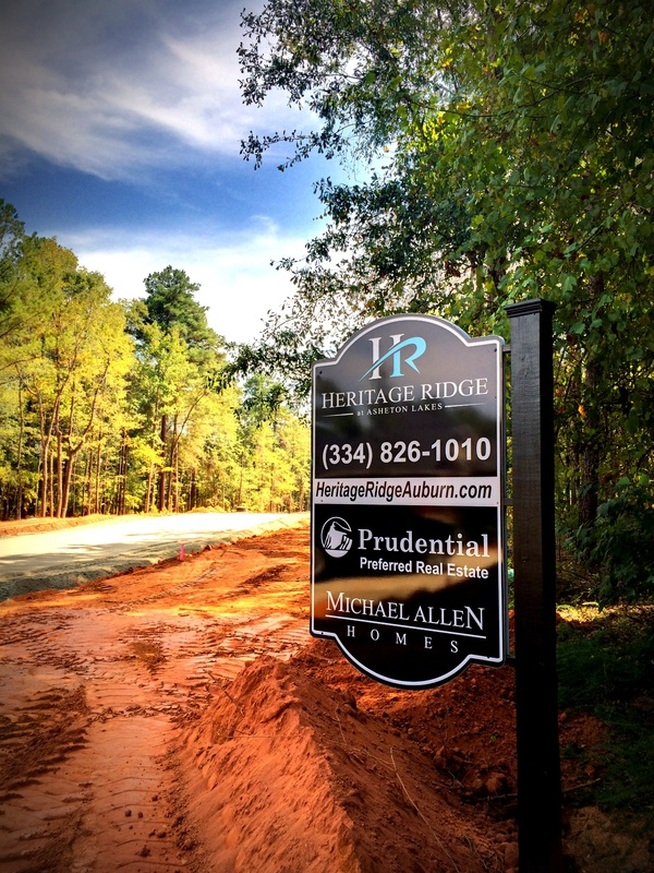 New homes are available in Auburn, AL at Heritage Ridge at Asheton Lakes